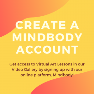 Brightly colored image that says you can access the video gallery